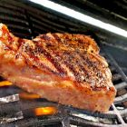 Greenham grass-fed beef t-bone steak brekky